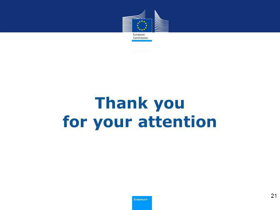 Erasmus+ Thank you for your attention 21