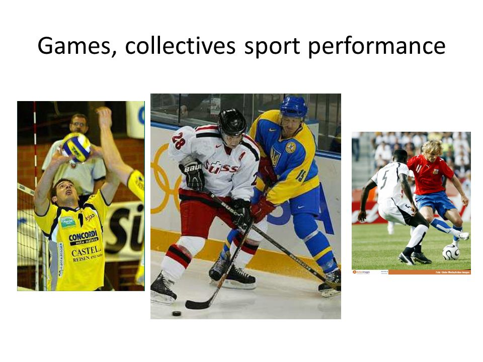 Games, collectives sport performance