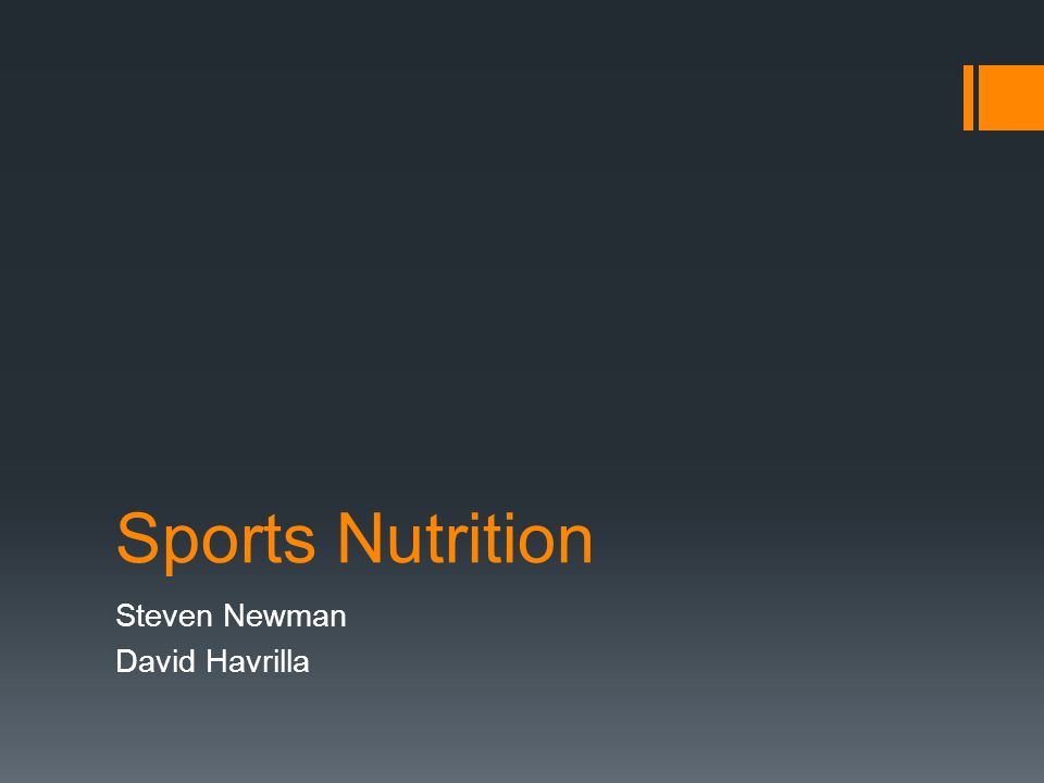 Sports Nutrition Steven Newman David Havrilla