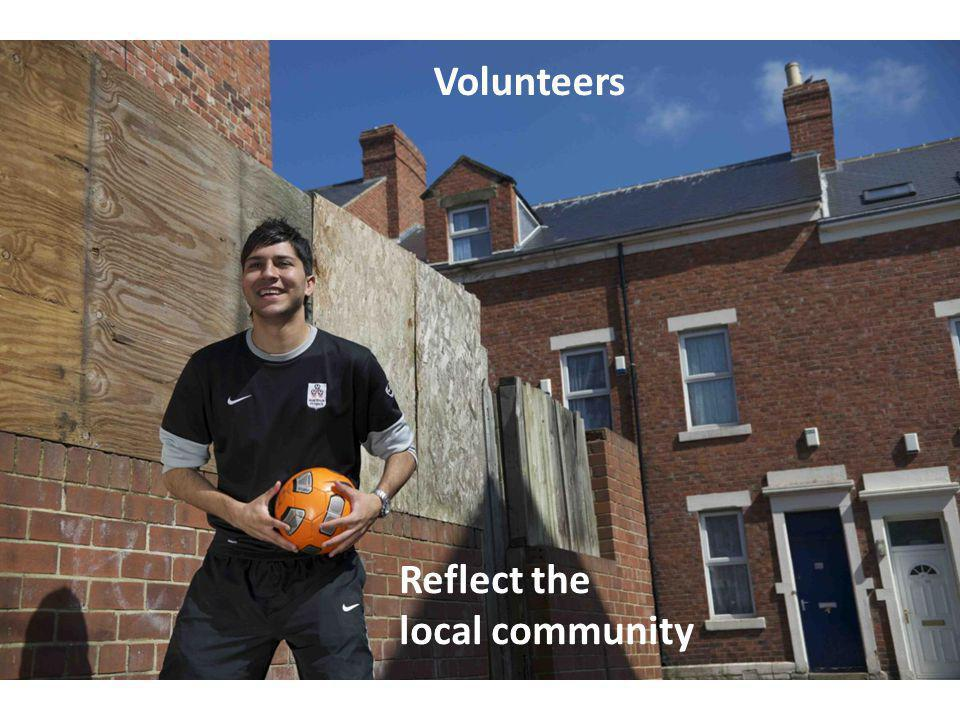 Reflect the local community Volunteers