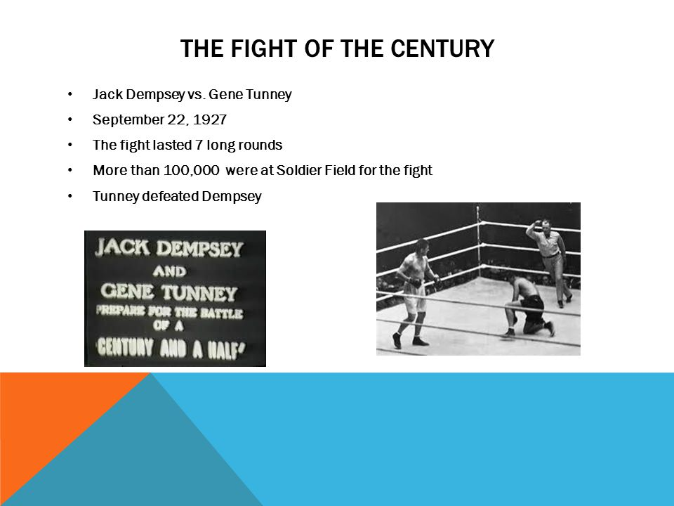 THE FIGHT OF THE CENTURY Jack Dempsey vs.