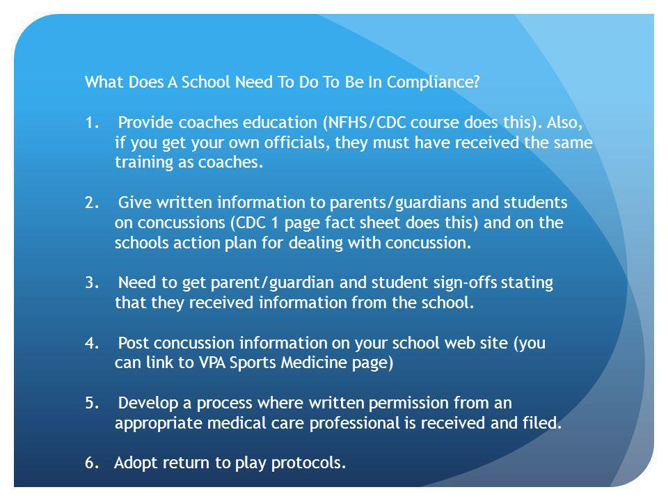 What Does A School Need To Do To Be In Compliance.