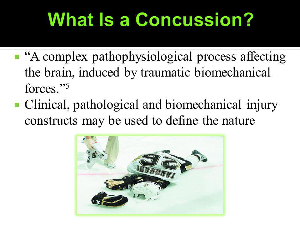 A complex pathophysiological process affecting the brain, induced by traumatic biomechanical forces.