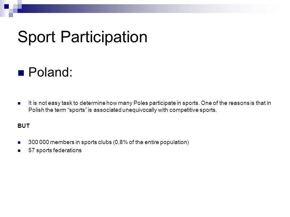 Sport Participation Poland: It is not easy task to determine how many Poles participate in sports.
