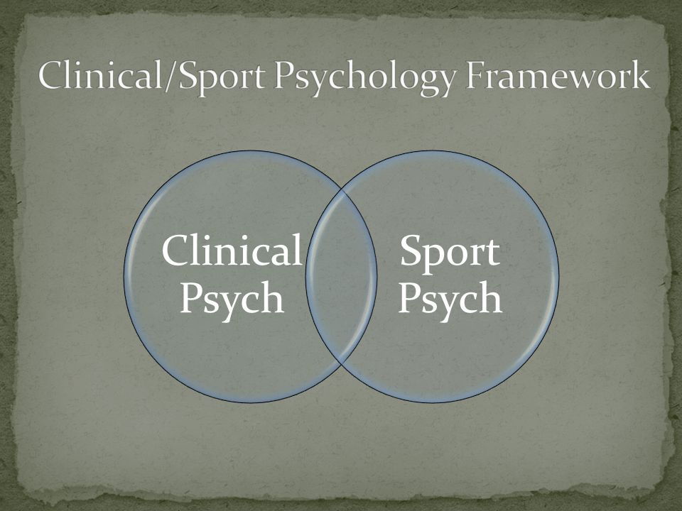 Clinical Psych Sport Psych