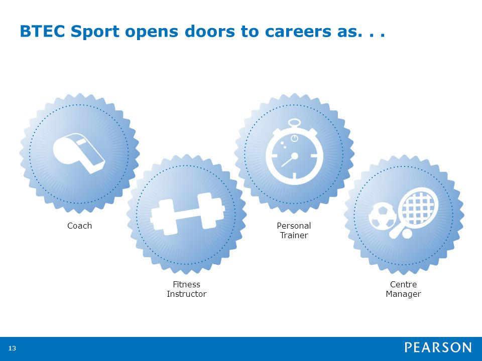BTEC Sport opens doors to careers as Coach Fitness Instructor Personal Trainer Centre Manager