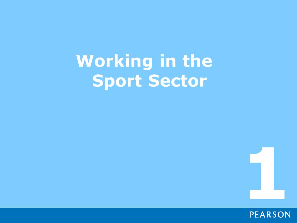 Working in the Sport Sector 1