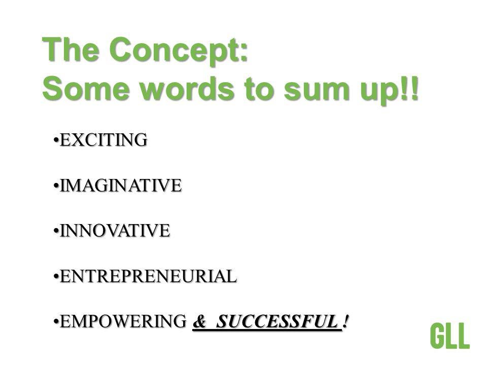 The Concept: Some words to sum up!.