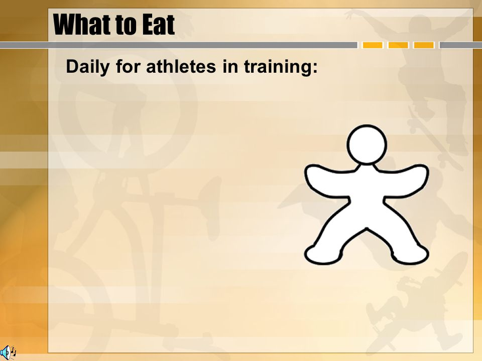 What to Eat Daily for athletes in training: