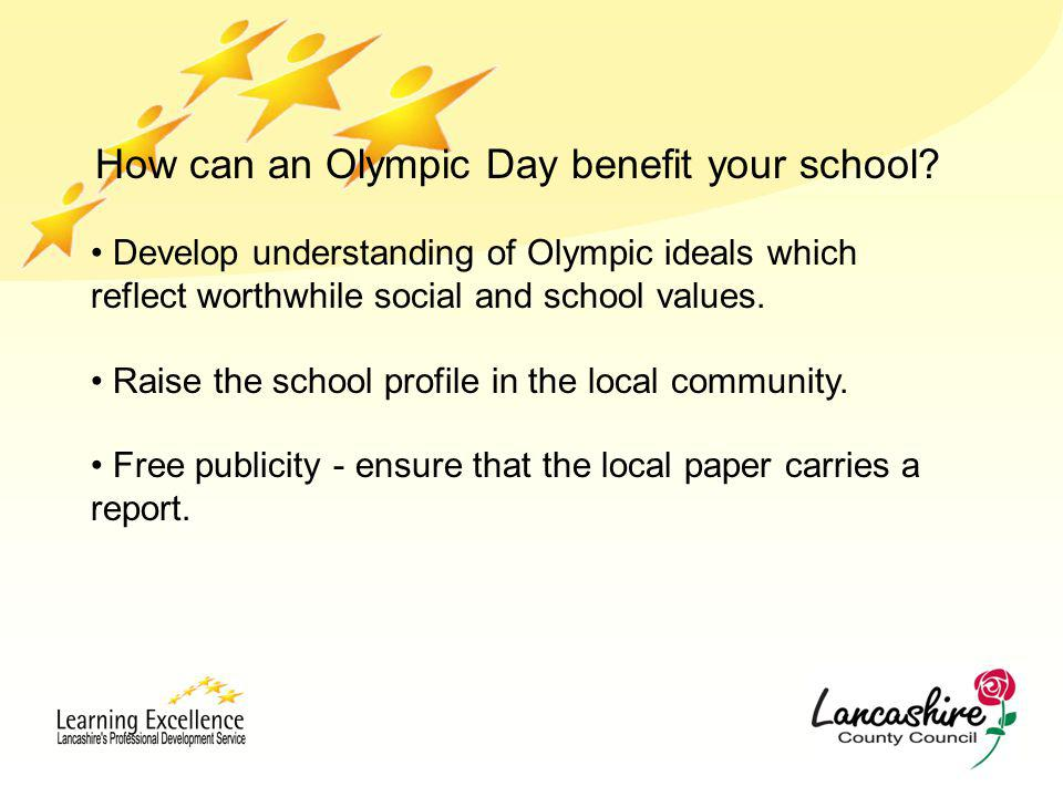 How can an Olympic Day benefit your school.