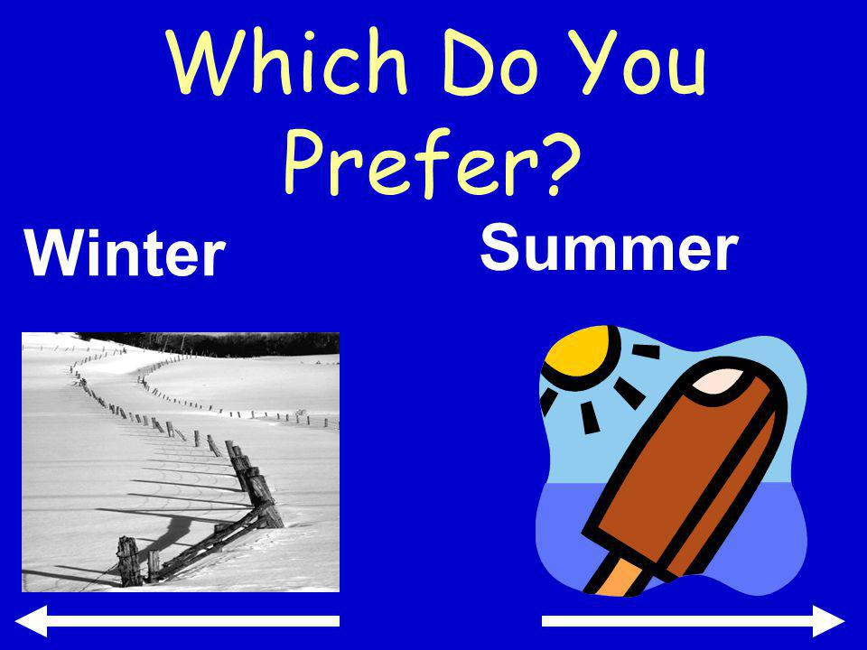 Which Do You Prefer Winter Summer