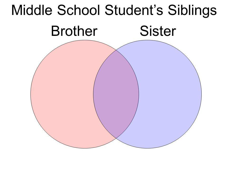 Middle School Students Siblings BrotherSister