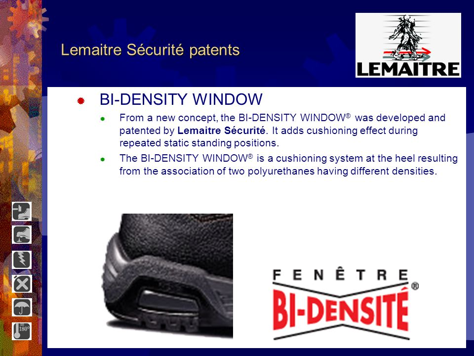 Lemaitre Sécurité patents DEOSHOES DEOSHOES ® is a perfumed and antibacterial deodorizer.