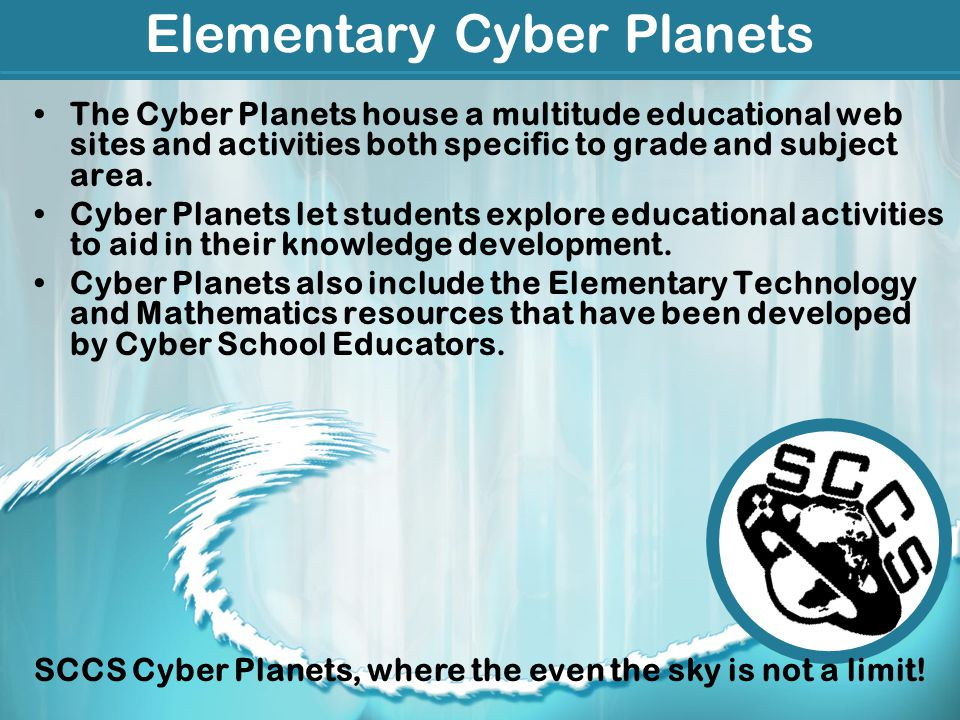 Elementary Cyber Planets The Cyber Planets house a multitude educational web sites and activities both specific to grade and subject area.