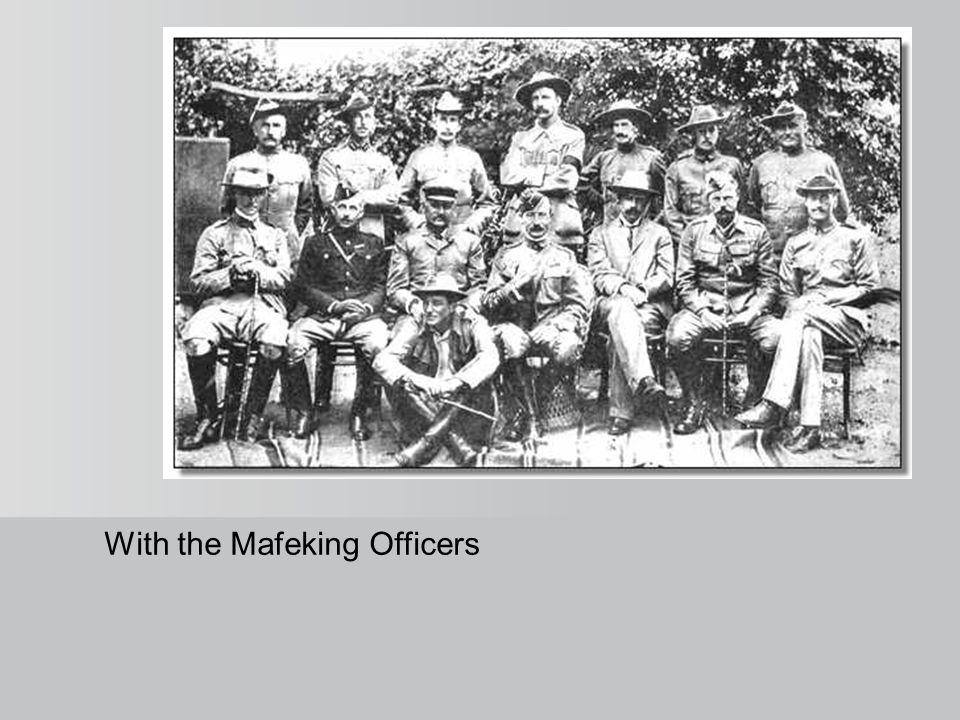 With the Mafeking Officers