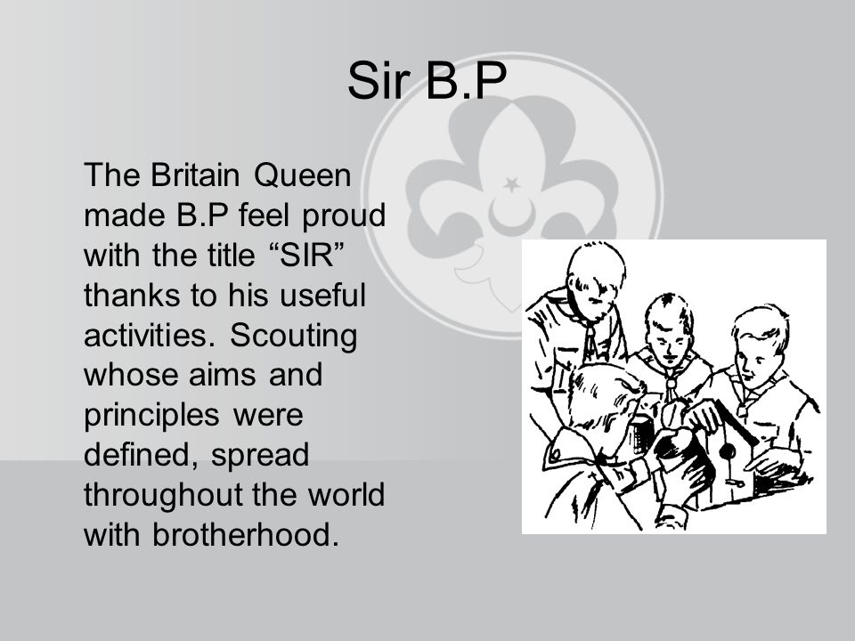 Sir B.P The Britain Queen made B.P feel proud with the title SIR thanks to his useful activities.