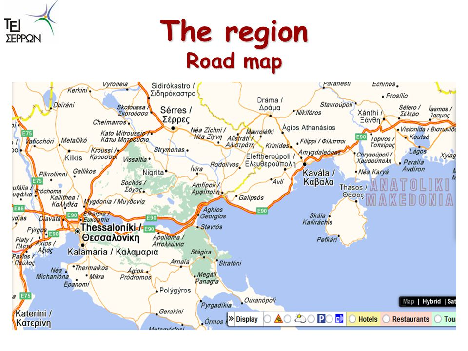 The region Road map