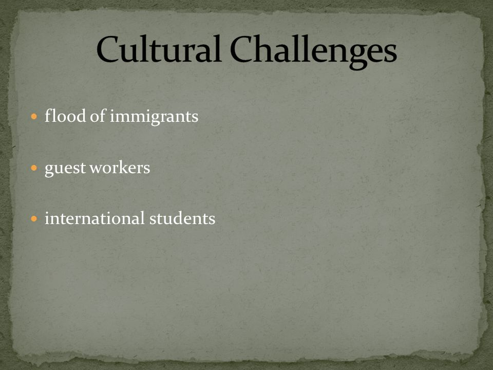 flood of immigrants guest workers international students