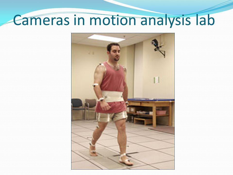 Cameras in motion analysis lab