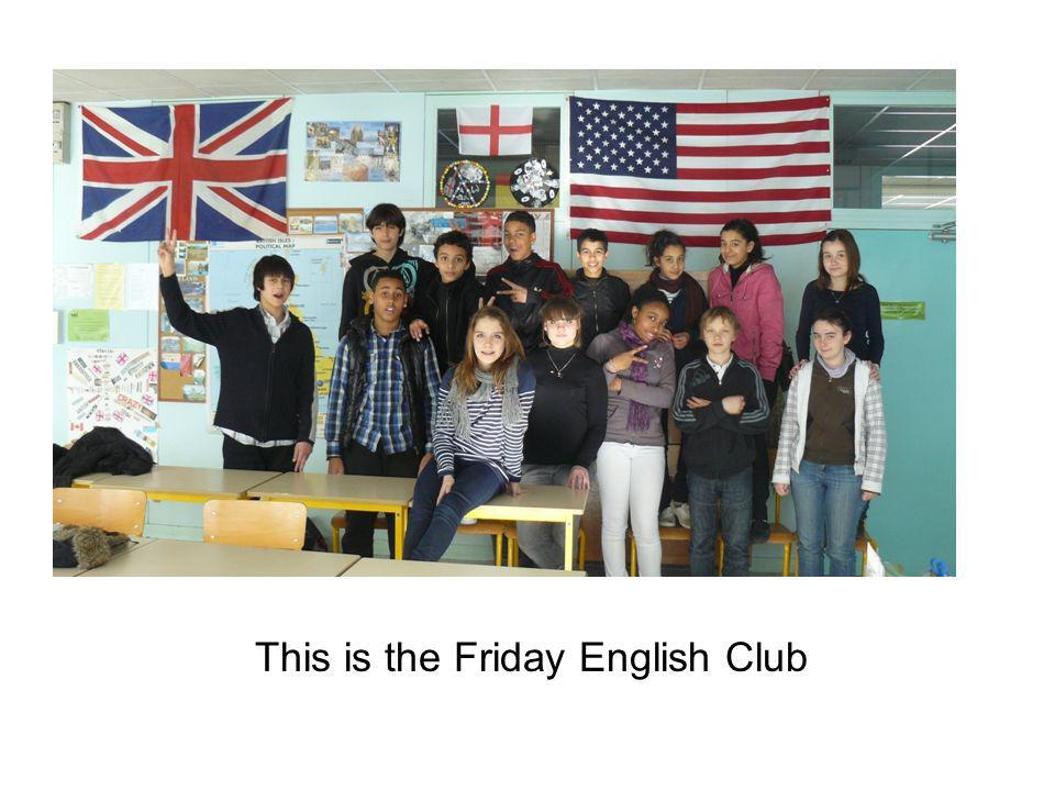 This is the Friday English Club
