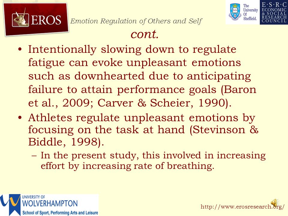 Emotion Regulation of Others and Self http://www.erosresearch.org/ cont.