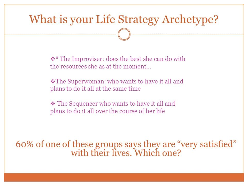 What is your Life Strategy Archetype.