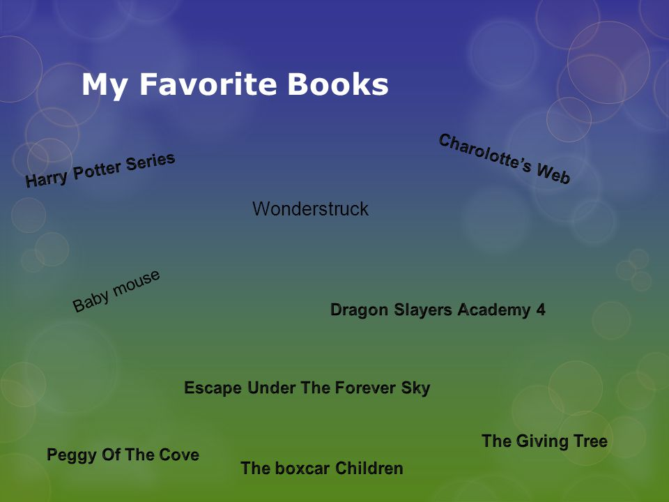 My Favorite Books Baby mouse Wonderstruck