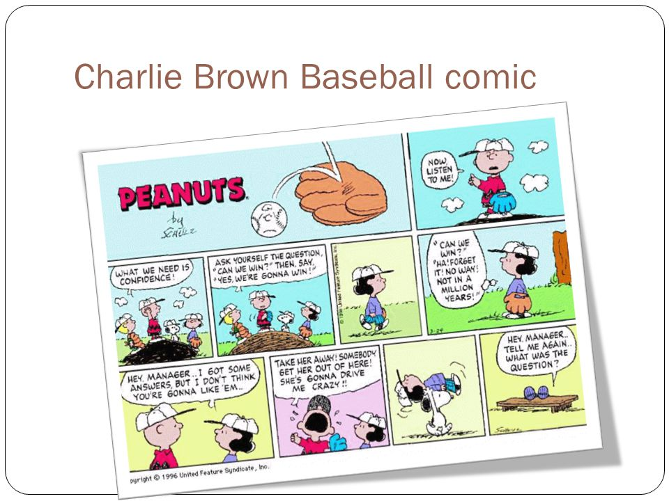 Charlie Brown Baseball comic