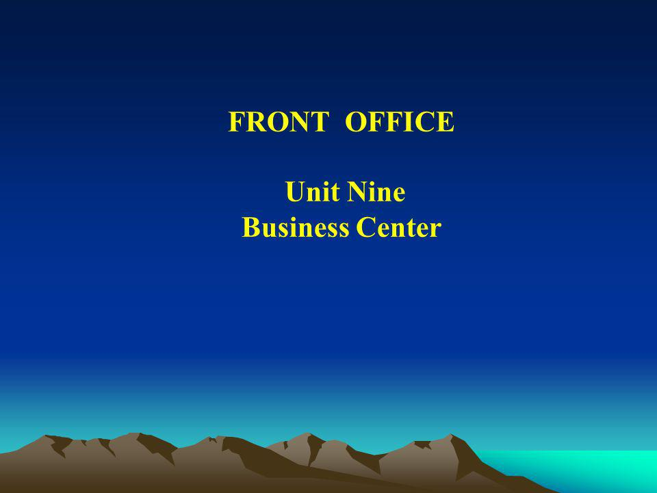 FRONT OFFICE Unit Nine Business Center
