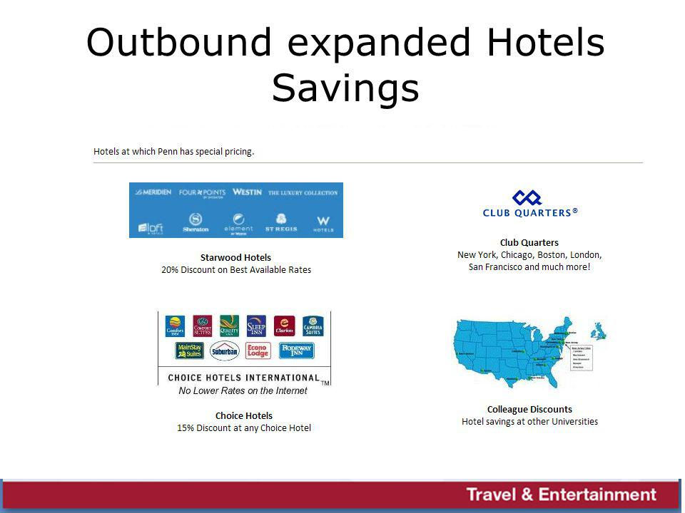 Outbound expanded Hotels Savings