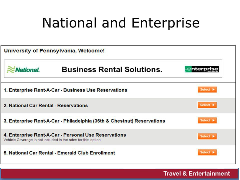 National and Enterprise
