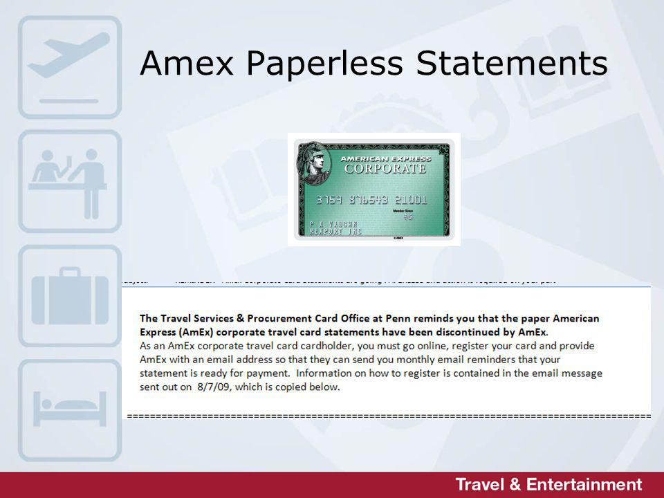 Amex Paperless Statements