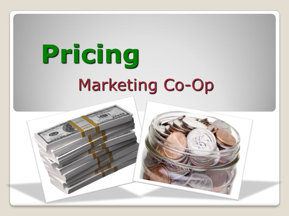 Pricing Marketing Co-Op