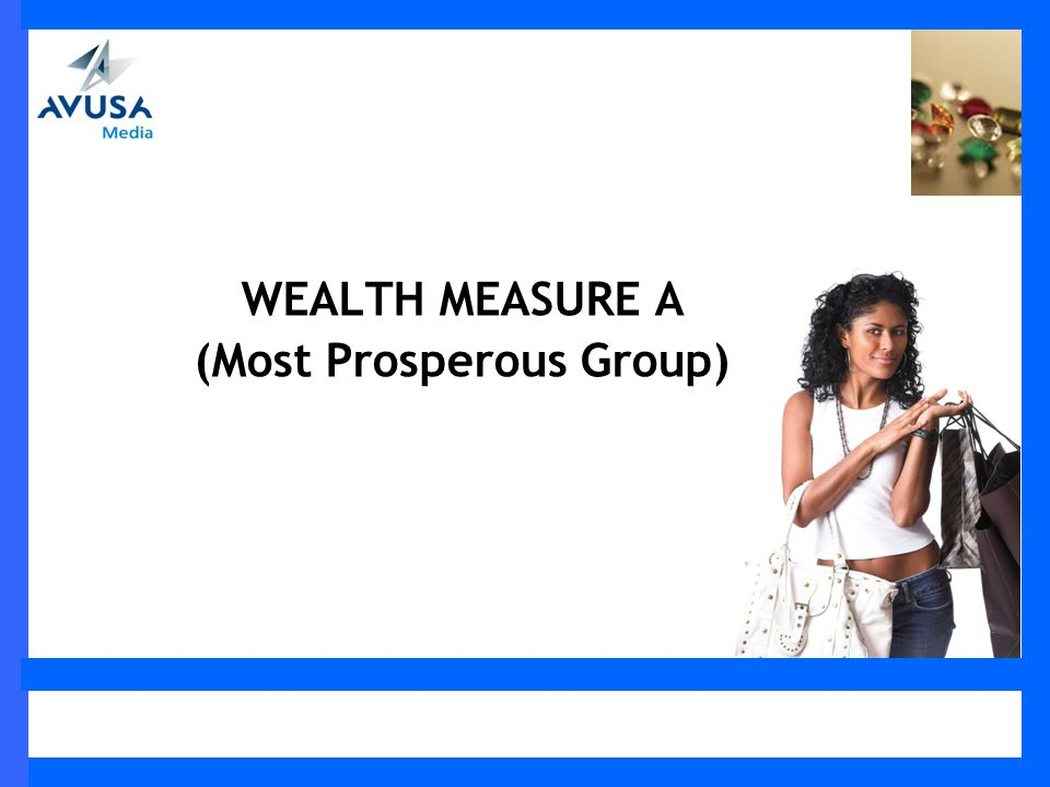 WEALTH MEASURE A (Most Prosperous Group)