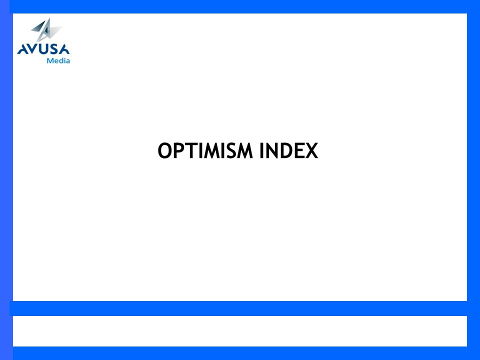 OPTIMISM INDEX