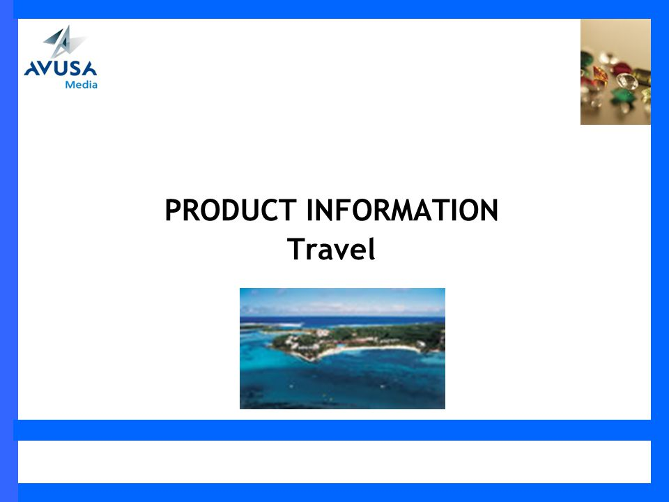 PRODUCT INFORMATION Travel