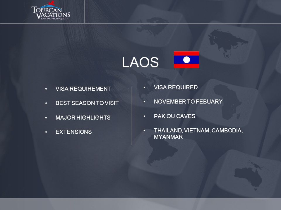 LAOS VISA REQUIREMENT BEST SEASON TO VISIT MAJOR HIGHLIGHTS EXTENSIONS VISA REQUIRED NOVEMBER TO FEBUARY PAK OU CAVES THAILAND, VIETNAM, CAMBODIA, MYANMAR