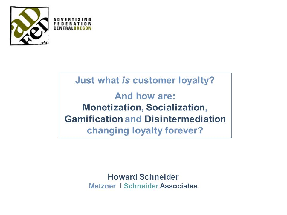 Just what is customer loyalty.