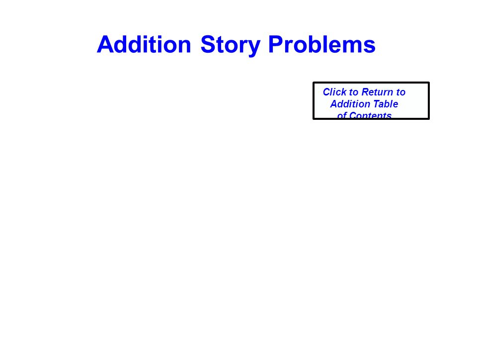 Addition Story Problems Click to Return to Addition Table of Contents
