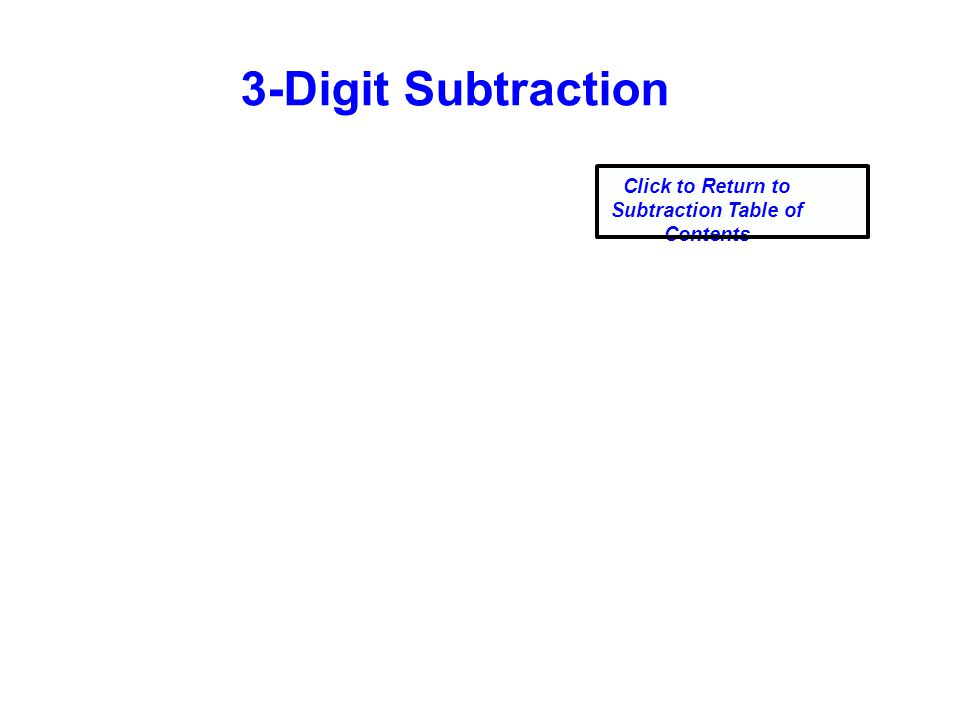 3-Digit Subtraction Click to Return to Subtraction Table of Contents
