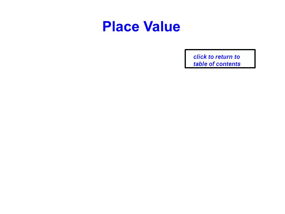 Place Value click to return to table of contents