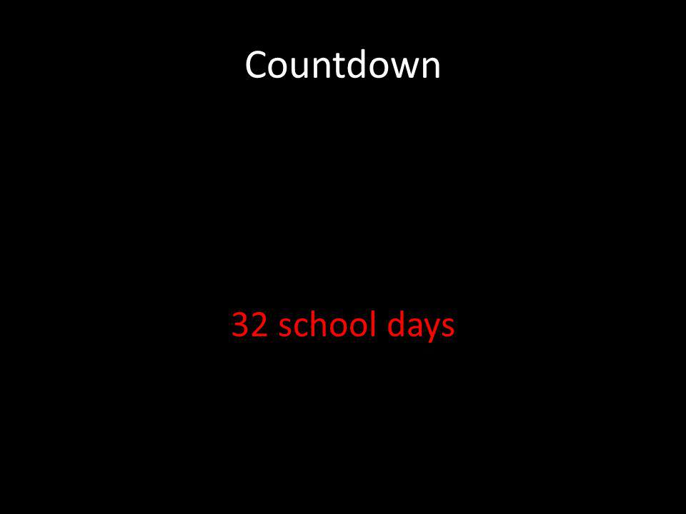 Countdown 32 school days