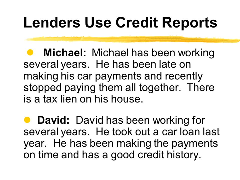 Michael: Michael has been working several years.