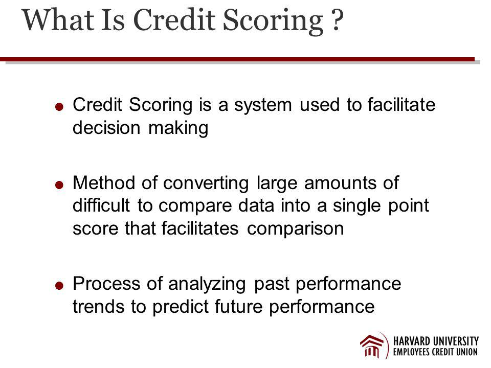 What Is Credit Scoring .