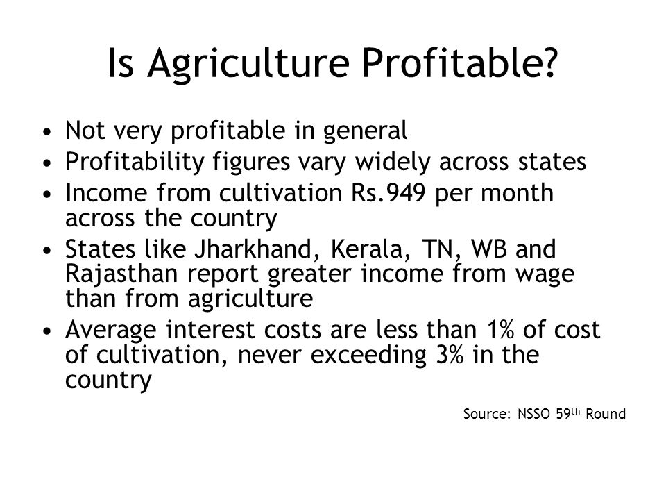 Is Agriculture Profitable.