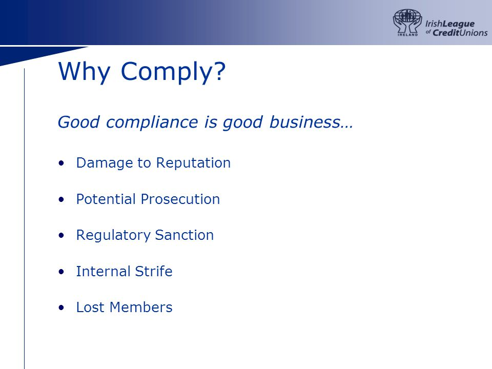 Why Comply.