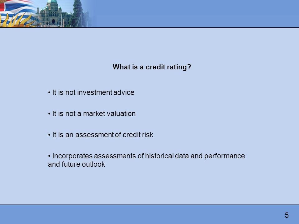 What is a credit rating.