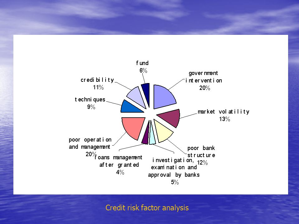 Credit risk factor analysis