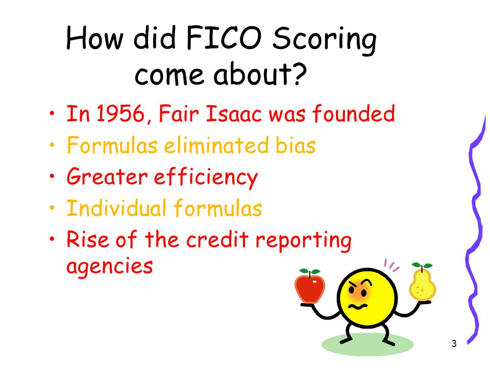 3 How did FICO Scoring come about.