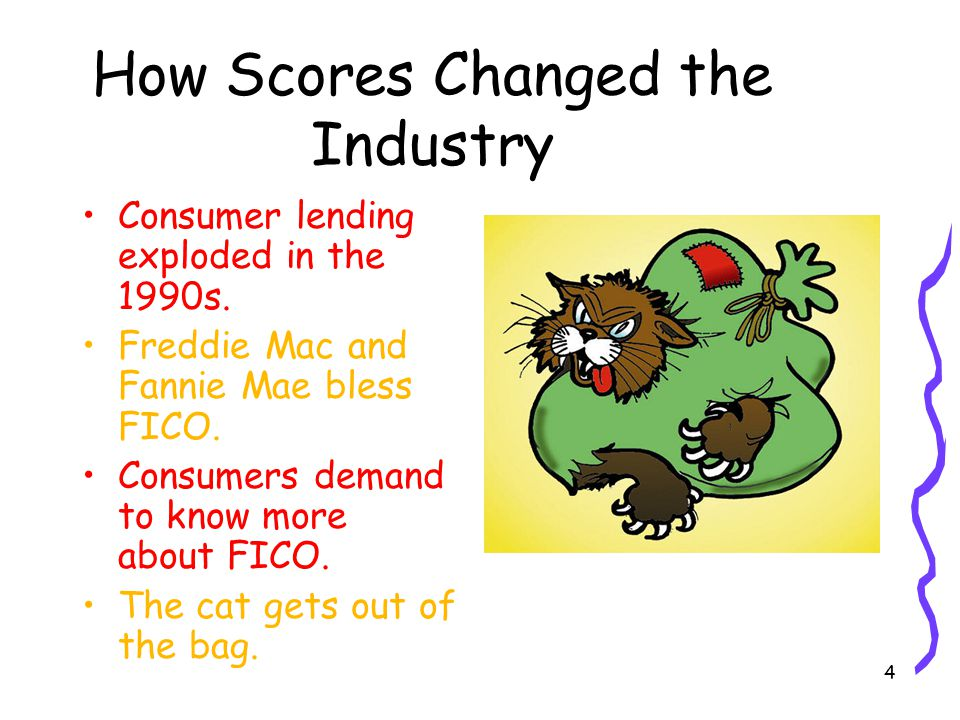 4 How Scores Changed the Industry Consumer lending exploded in the 1990s.